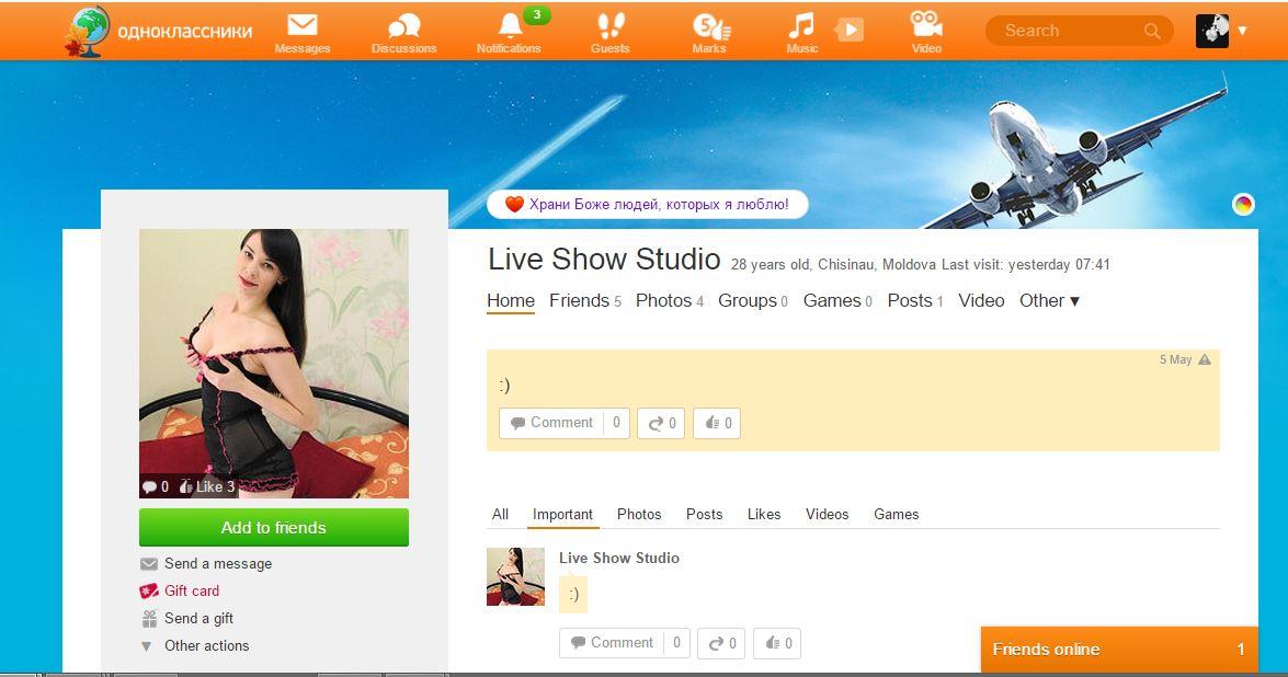 LiveShowStudio - Odnoklassniki