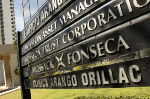 View of the entrance of Mossack Fonseca headquarters at Panama city on April 13, 2016.  Police on Tuesday raided the headquarters of the Panamanian law firm whose leaked Panama Papers revealed how the world's wealthy and powerful used offshore companies to stash assets. / AFP PHOTO / Ed GrimaldoED GRIMALDO/AFP/Getty Images